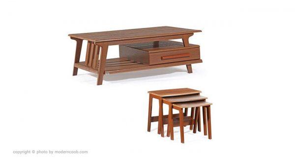 میز جلو مبلی ارزان و با کیفیت مدرن چوب